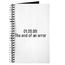 01.20.09 the end of an error Journal