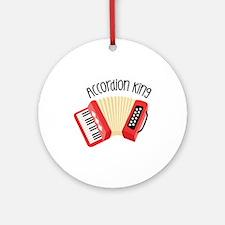 Accordion King Ornament (Round)