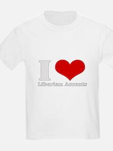 i love (heart) liberian accen T-Shirt