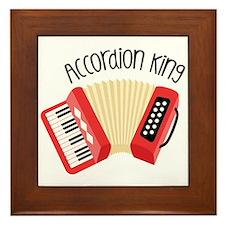 Accordion King Framed Tile