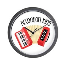 Accordion King Wall Clock