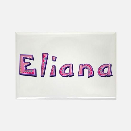 Eliana Pink Giraffe Rectangle Magnet