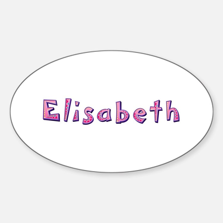 Elisabeth Pink Giraffe Oval Decal