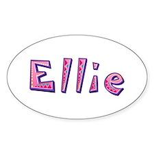 Ellie Pink Giraffe Oval Decal