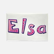 Elsa Pink Giraffe Rectangle Magnet