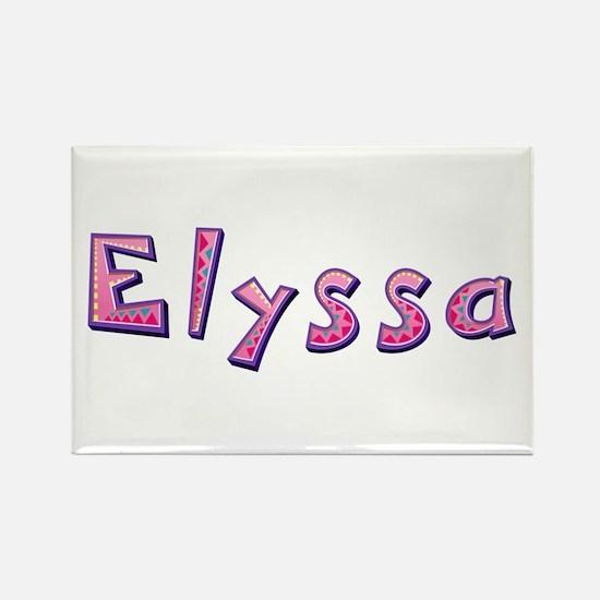Elyssa Pink Giraffe Rectangle Magnet
