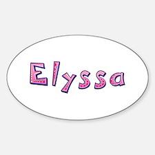 Elyssa Pink Giraffe Oval Decal