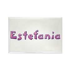 Estefania Pink Giraffe Rectangle Magnet
