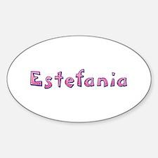 Estefania Pink Giraffe Oval Decal