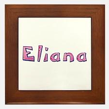 Eliana Pink Giraffe Framed Tile