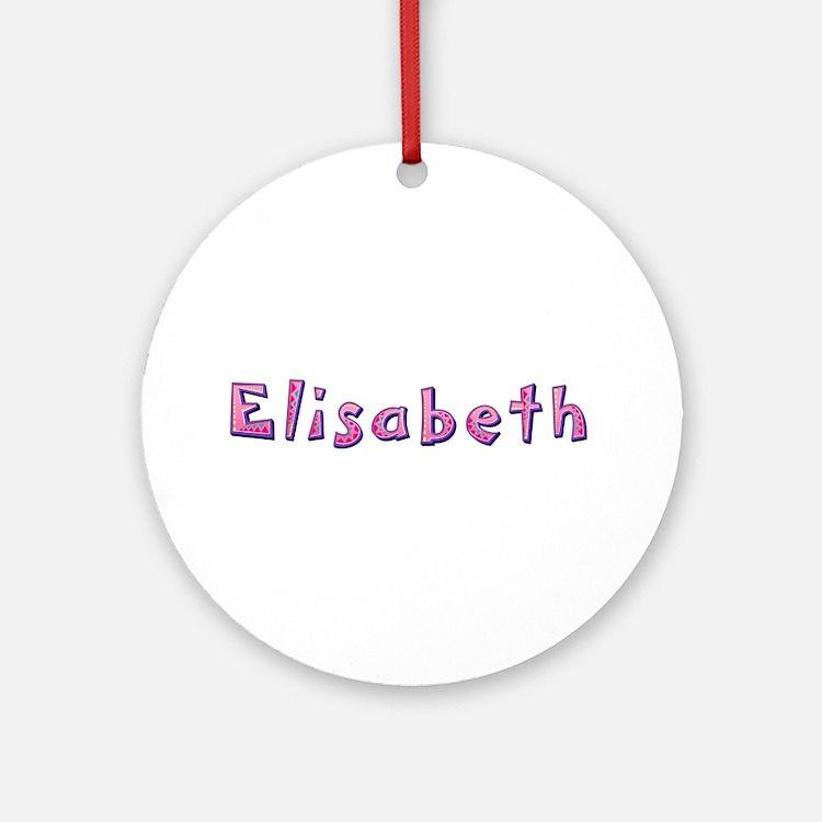 Elisabeth Pink Giraffe Round Ornament