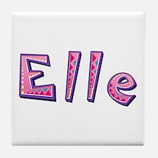 Elle Pink Giraffe Tile Coaster
