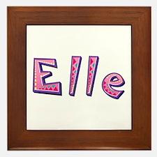 Elle Pink Giraffe Framed Tile