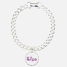 Elsa Pink Giraffe Charm Bracelet