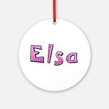 Elsa Pink Giraffe Round Ornament