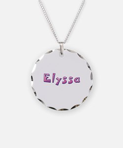 Elyssa Pink Giraffe Necklace Circle Charm
