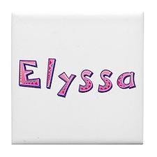 Elyssa Pink Giraffe Tile Coaster