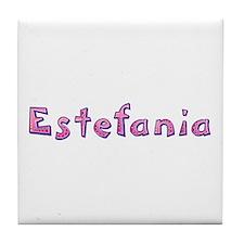 Estefania Pink Giraffe Tile Coaster