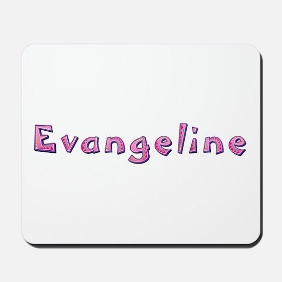 Evangeline Pink Giraffe Mousepad