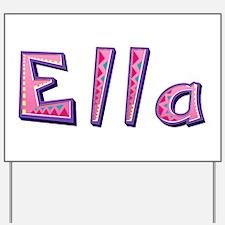 Ella Pink Giraffe Yard Sign