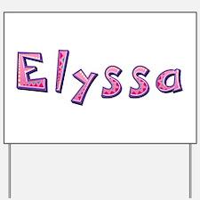 Elyssa Pink Giraffe Yard Sign