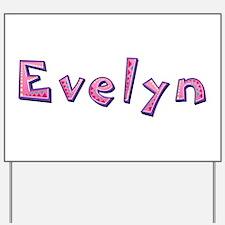 Evelyn Pink Giraffe Yard Sign