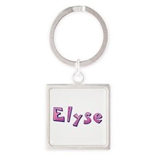 Elyse Pink Giraffe Square Keychain