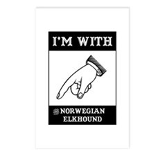 With the Elkhound Postcards (Package of 8)