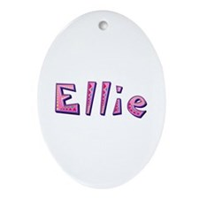 Ellie Pink Giraffe Oval Ornament