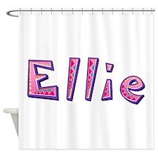 Ellie Pink Giraffe Shower Curtain