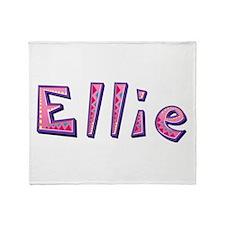 Ellie Pink Giraffe Throw Blanket
