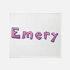 Emery Pink Giraffe Throw Blanket