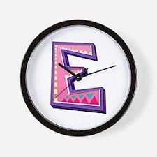 E Pink Giraffe Wall Clock