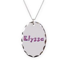 Elyssa Pink Giraffe Oval Necklace