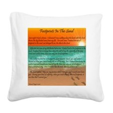 Footprints in the Sand Square Canvas Pillow