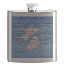 Footprints in the Sand Flask