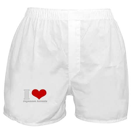 i love (heart) japanese accen Boxer Shorts