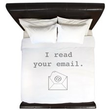 I Read Your Email. King Duvet