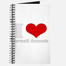 i love (heart) israeli accent Journal