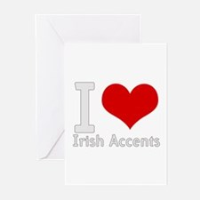 i love heart irish accents Greeting Cards (Package