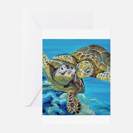 Marine Turtles Greeting Cards