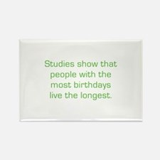 Most Birthdays Rectangle Magnet (10 pack)