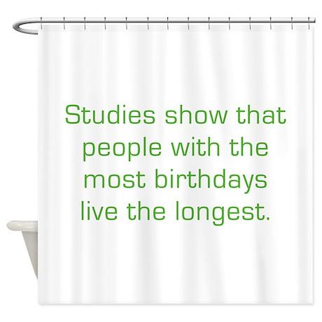 Most Birthdays Shower Curtain