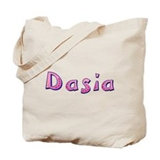 Dasia Pink Giraffe Tote Bag