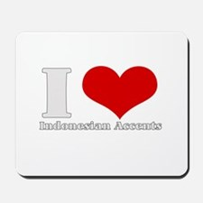 i love heart accents Mousepad