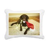 Chocolate lab Rectangle Canvas Pillows