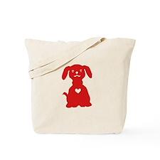 Red Dog Tote Bag