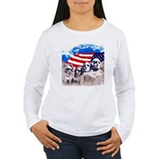 Mount Rushmore with Am T-Shirt