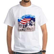 Mount Rushmore with American Flag Shirt