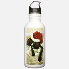 Chrocolate Lab Christm Water Bottle